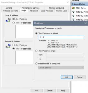 Add IP addresses